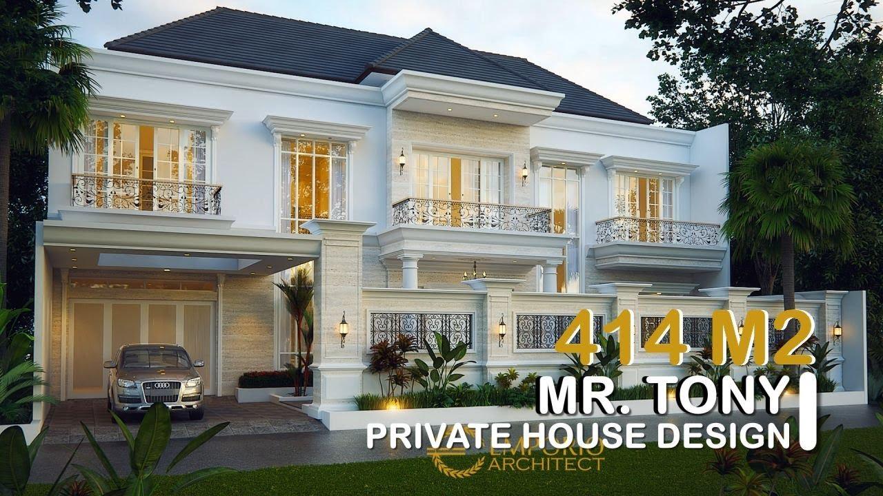 Video 3D Desain Rumah Classic 2 Lantai Bapak Tony di Jambi