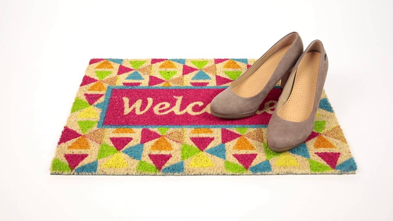 Video von: Fußmatte Kokos WELCOME bunt