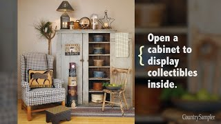 14 Simple Ways To Decorate With Primitives | A Country Sampler Design Tutorial