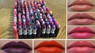MAC Lipstick Collection | 127 LIP SWATCHES TRY ON!