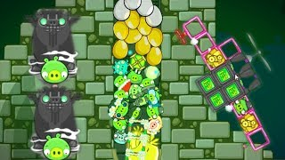 Bad Piggies - HIDING ALL DIFFERENT PIGGIES AND GOLDEN EGG IN DEEPEST HOLE!!!