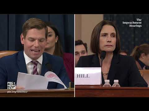 WATCH: Rep. Eric Swalwell's full questioning of Hill and Holmes | Trump impeachment hearings