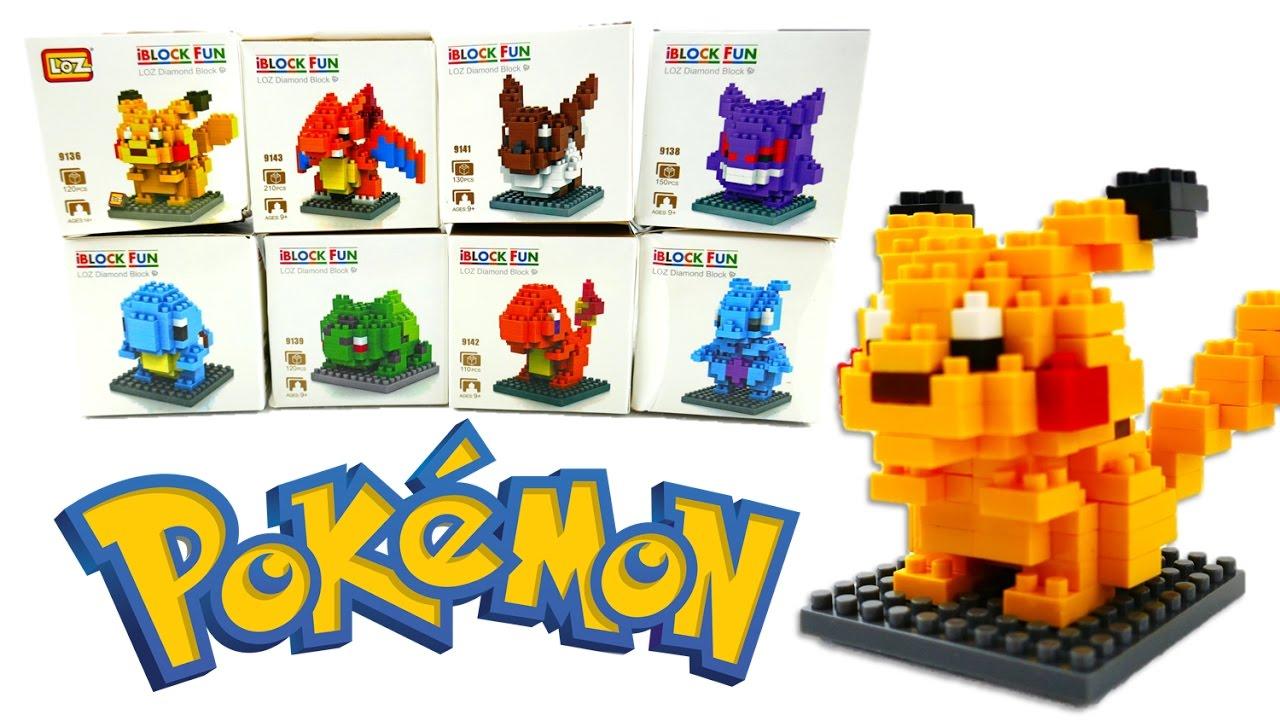 Tiny Lego Blocks - Pokemon Pikachu Microblocks Review and Speedbuild| Evies Toy House