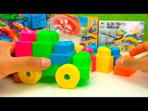 Juego de Bloques de Colores ►Carro y Números  para Niños