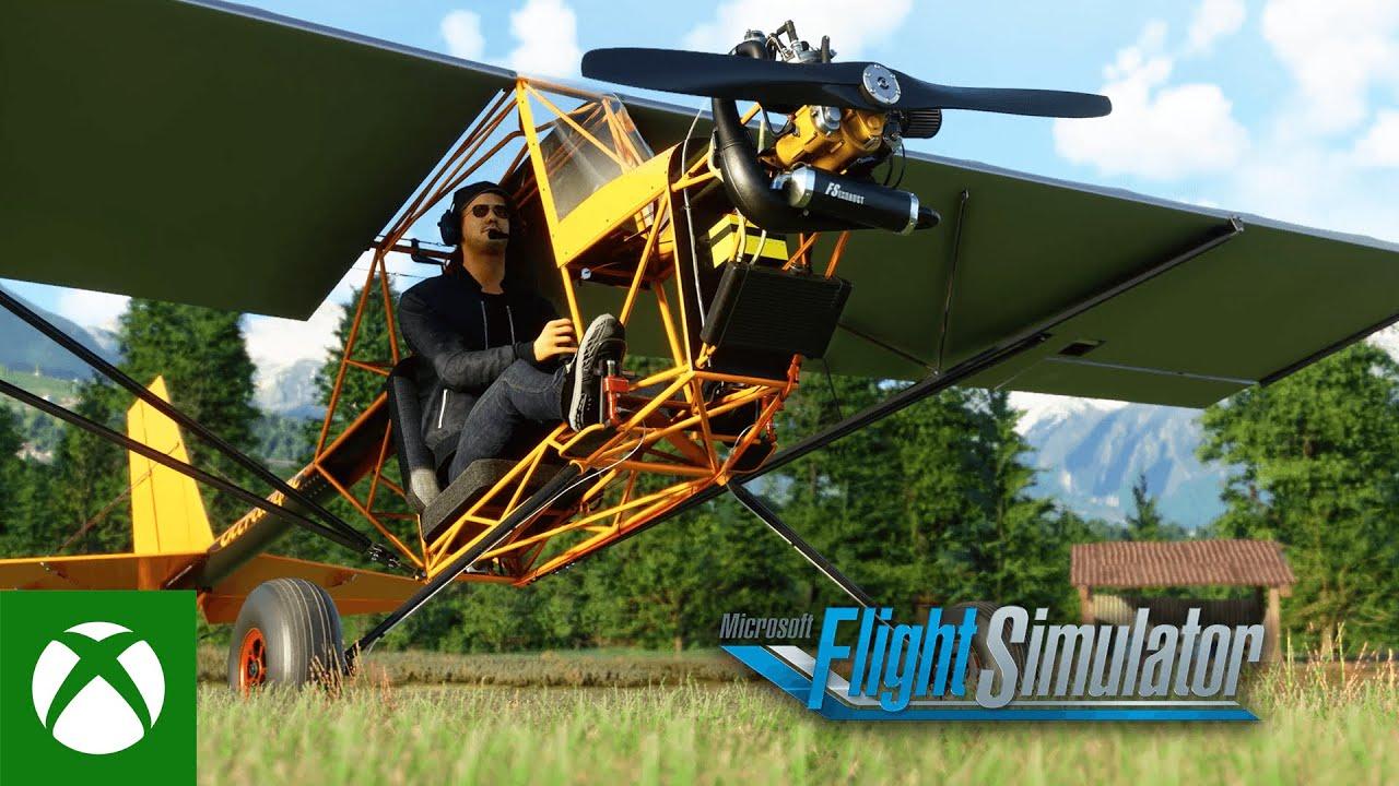 Microsoft Flight Simulator Top Rudder Solo 103 Ultralight Plane Video Still