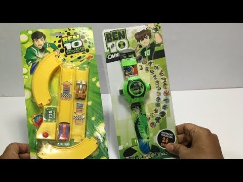 Ben10 Alien Force Car Track Set & Ben10 Projector Watch