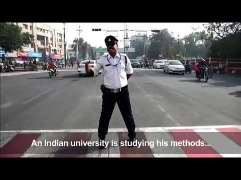 India's 'moonwalking' traffic cop turns heads on the chaotic streets of Indore
