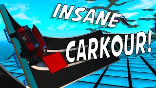 INSANE PARKOUR STUNTS! - BeamNG Drive Carkour 2 Map (Crashes and Funny Moments)