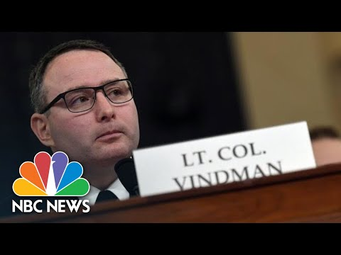 Vindman Receives Applause After Explaining Why He Spoke Out: 'This Is America'   NBC News