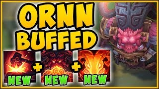 WTF! OVERBUFFED ORNN DEALS TOO MUCH DAMAGE! BUFFED ORNN TOP GAMEPLAY SEASON 9! - League of Legends