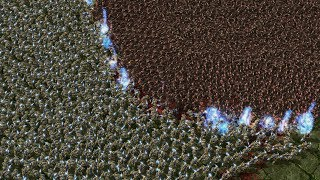 5.000 ZEALOTS vs 2.300 INFESTED TERRANS - Starcraft 2 MASSIVE Battle