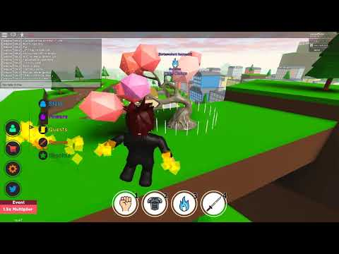 All chakra training places for anime fighting simulator (ROBLOX ...