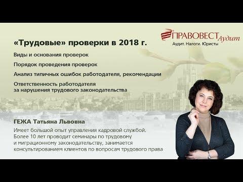 Трудовые проверки 2018