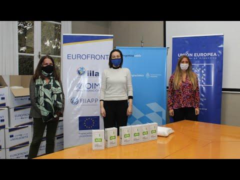 El proyecto Eurofront entregó al Estado argentino equipos para detectar y prevenir el Coronavirus