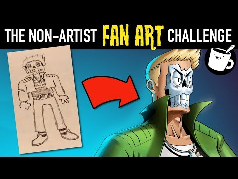 Artists Redraw Non-Artists' Drawings