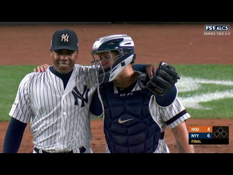 ALCS Gm4: Chapman gets the save, Yankees even series