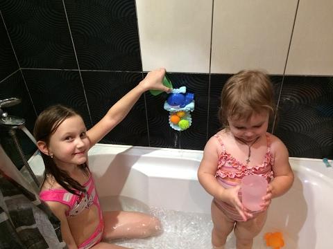 Веселье в ванной РАСПАКОВКА игрушки для ванной ВИДЕО ДЛЯ ДЕТЕЙ обзор