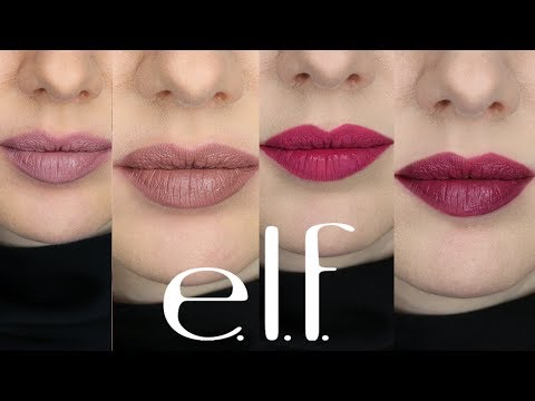 Drugstore Lipstick Review | e.l.f. Matte Liquid Lipsticks