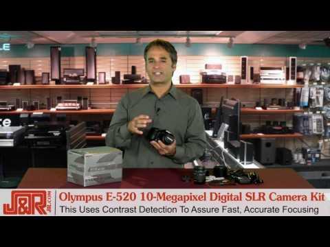 Olympus E-520 10-Megapixel Digital SLR Camera Kit - JR.com