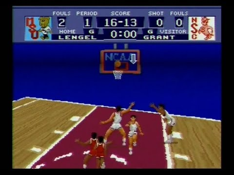 NCAA Basketball SNES Review Gameplay Super Nintendo