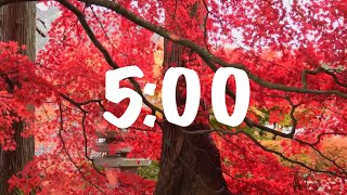 5 Minute Beautiful Fall and Autumn Timer with Music | Soothing lovers