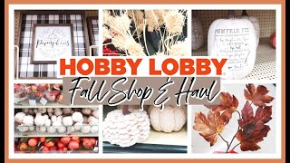 FINDING THE BEST FALL DECOR AT HOBBY LOBBY! | FALL SHOP WITH ME &  HAUL 2020