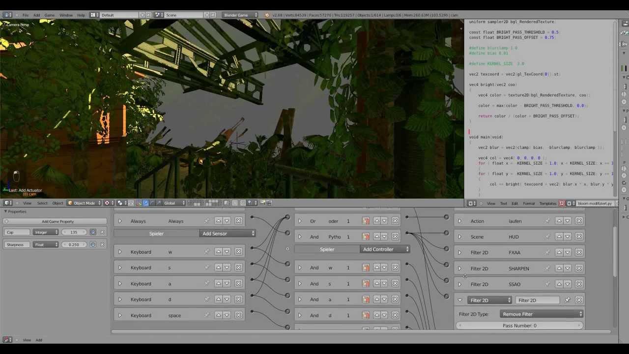 Blender Game Engine-Advanced 2D Shader Tutorial