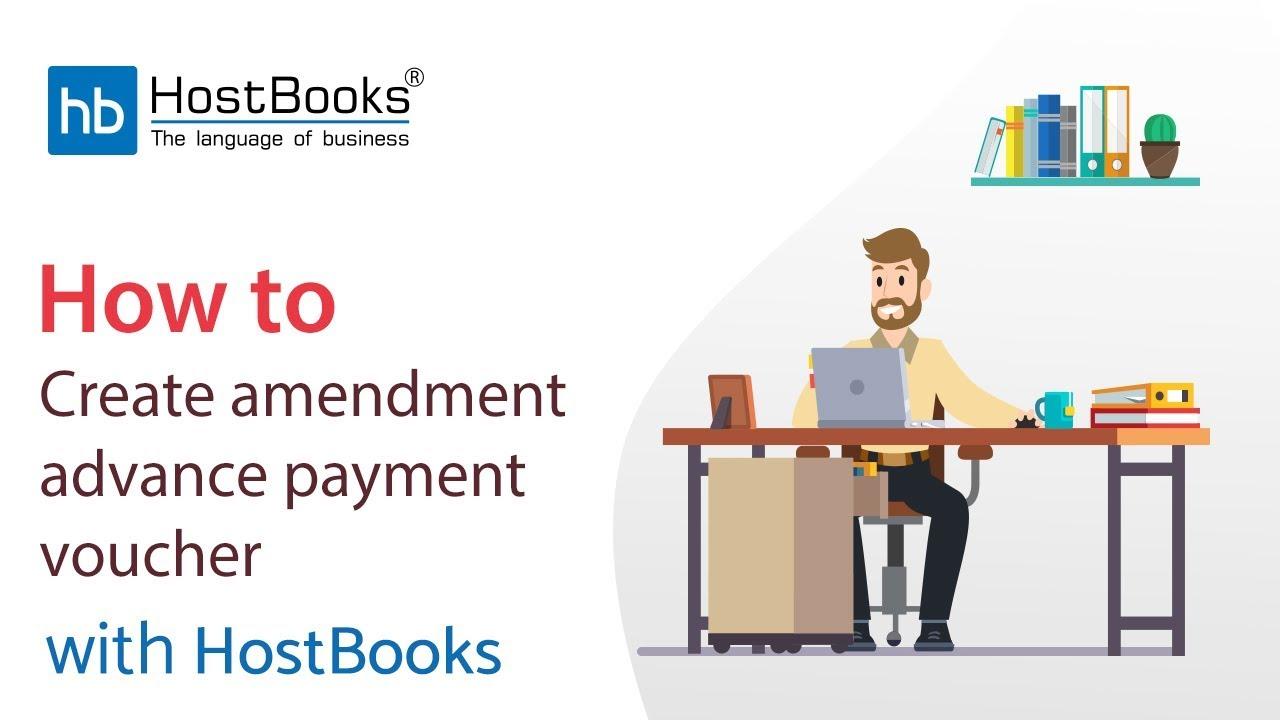How To Create Amendment Advance Receipt Voucher With Hostbooks Gst Software