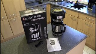 Russell Hobbs 21711-56 Retro Classic Noir Thermo-Kaffeemaschine