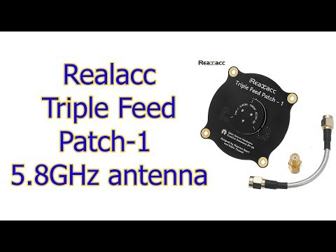 Realacc Triple Feed Patch 1 5 8GHz antenna for VRD2 pro