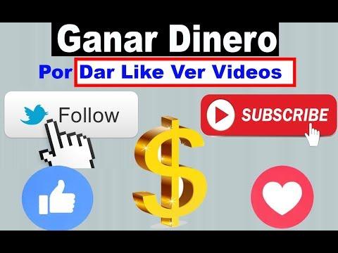 Ganar Dinero con tus redes sociales Por Dar Like Ver Videos suscribirse ETC