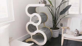 Meowingtons Modern Wave Cat Tree Assembly Instructions