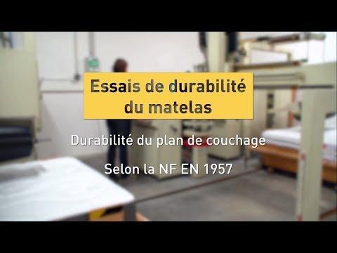 Tests labo : essais de durabilité d'un matelas pour la certification CTB Literie