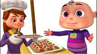 Hot Cross Buns With Zool Babies | Five Little Babies Collection | Nursery Rhymes & Kids Songs