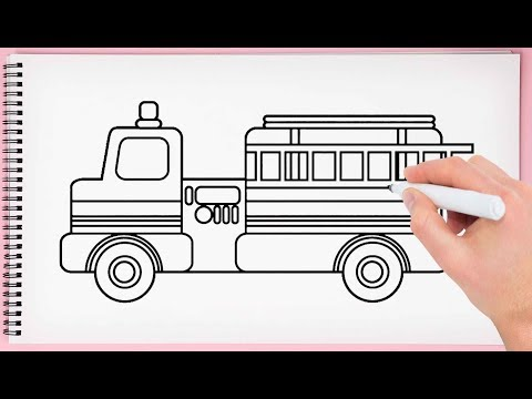 how to draw fire truck easy learn drawing fire truck very simple and step by step
