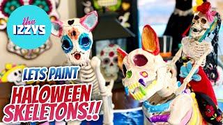 We make DIY Skeletons for HALLOWEEN!!