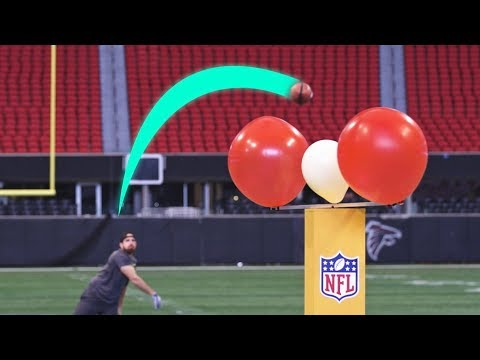 Super Bowl Stadium Trick Shots   Dude Perfect