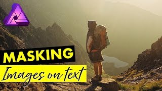 How to Mask an Image on Text in Affinity Photo | Graphic Design Tutorial