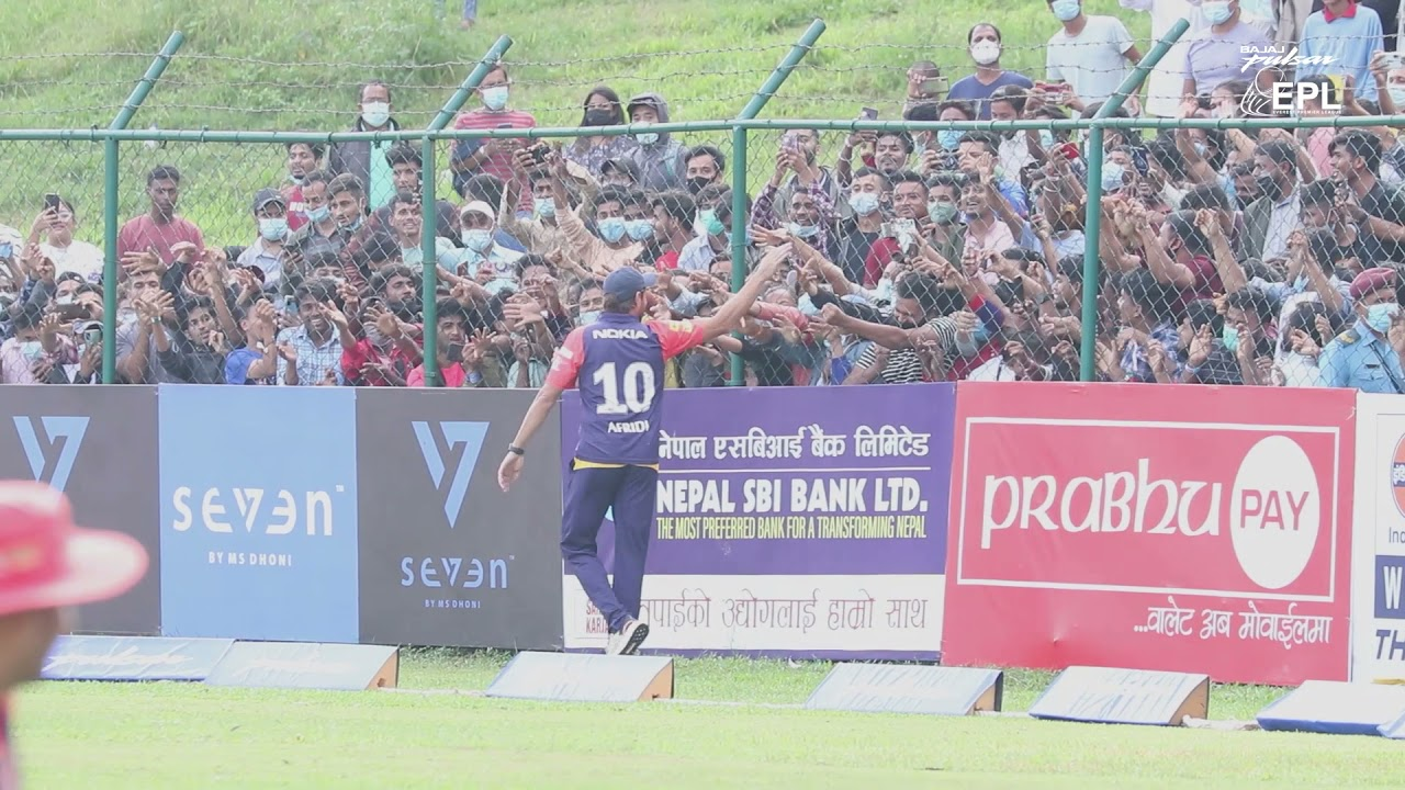 Boom Boom #Afridi addresses the passionate Nepalese Fans.