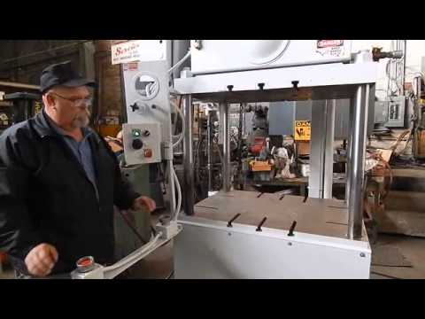 25 TON KEYSTONE 4 POST UP-ACTING HYDRAULIC TRIM PRESS