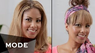 DIY Bangs Without Cutting Your Hair   Hair Report ★ Mode.com