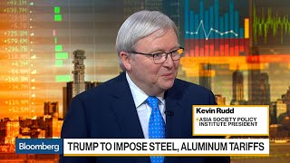 Asia Society's Rudd Says China Has Mechanisms to Retaliate on U.S. Tariffs