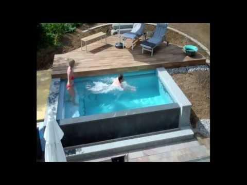 Schwimmbadbau - Dokumentation eines Pool im Garten - im Zeitraffer