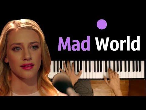 "Mad World (OST ""Riverdale"") ● караоке| PIANO_KARAOKE ● ᴴᴰ + НОТЫ & MIDI | orig. Gary Jules"
