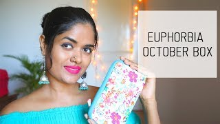 EUPHORBIA OCTOBER BOX || Products Worth Rs. 2,199 In Only 259 Rs.|| #100dayswithsowbii Day 15