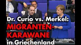 Frage an Merkel zur Migrantenkarawane in Griechenland