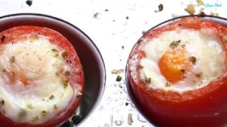 Egg Stuffed Italian Tomatoes For A Simple Clean Eating Breakfast!