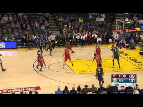 Ian Clark Crossover on Noah Vonleh ! Warriors vs Trail Blazers