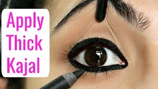 मोटा काजल कैसे लगाएं | How to Apply Thick Kajal & Eyeliners for Beginners | Anaysa