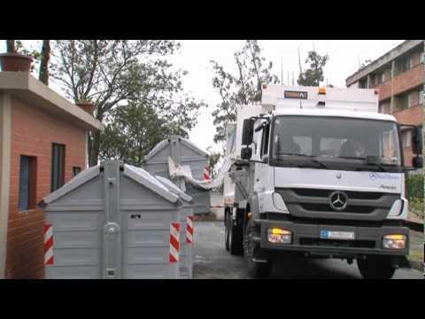 Proceso de recolección de basura en contenedores